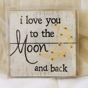I love you to the moon and back room decor